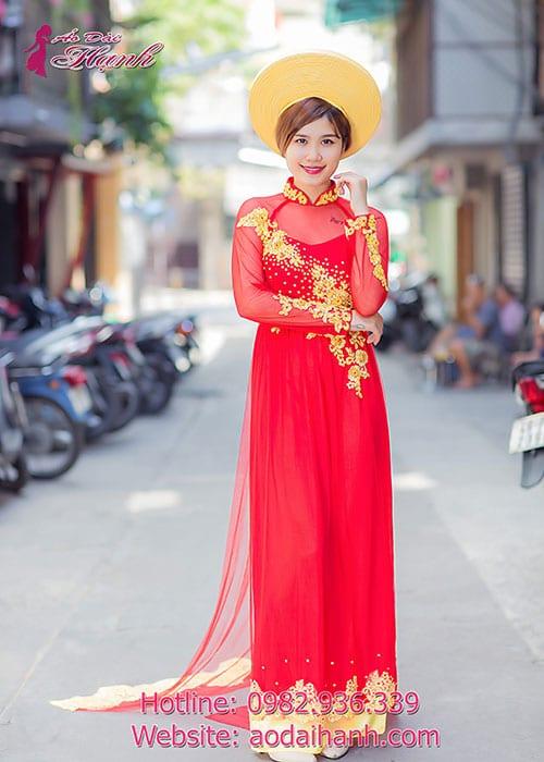 Áo dài cưới dành cho cô dâu mẫu số 45