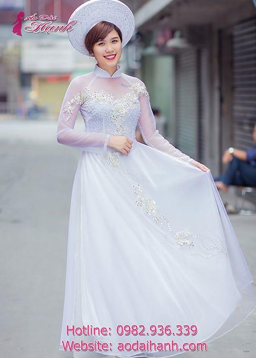 Áo dài cưới dành cho cô dâu mẫu số 47