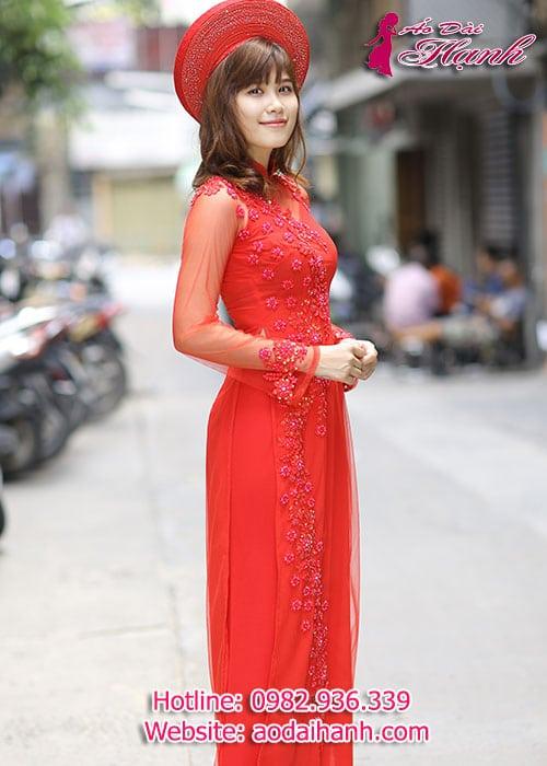 Áo dài cưới dành cho cô dâu mẫu số 58