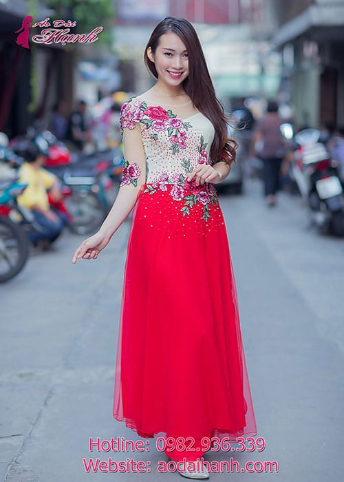 Áo dài cưới dành cho cô dâu mẫu số 66