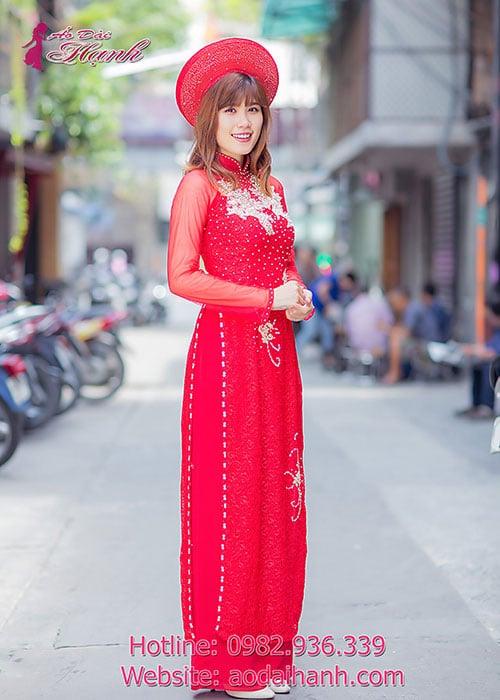 Áo dài cưới dành cho cô dâu mẫu số 68