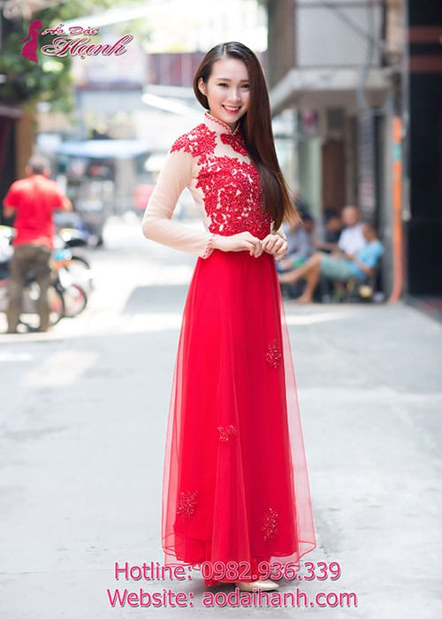 Áo dài cưới dành cho cô dâu mẫu số 73